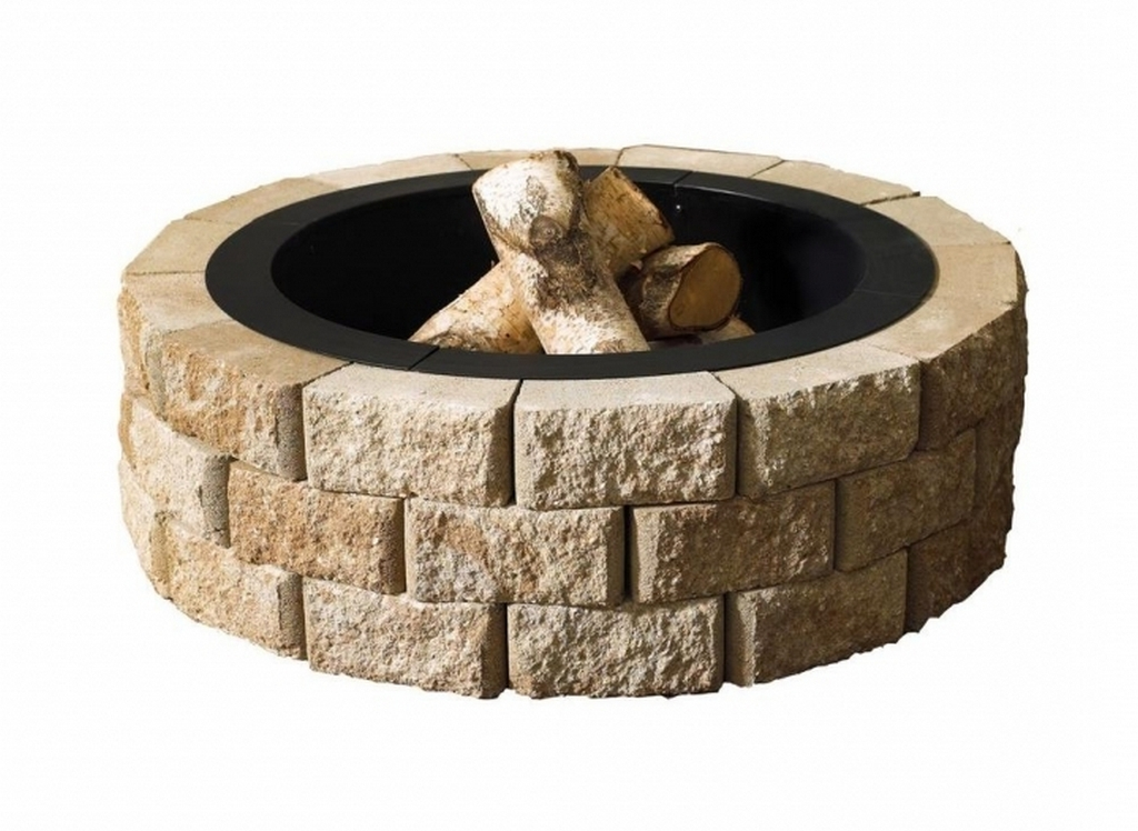 top-oldcastle-hudson-stone-40-in-round-fire-pit-kit-natural stone fire pit-the-fire-pit-kits-home-depot-pic