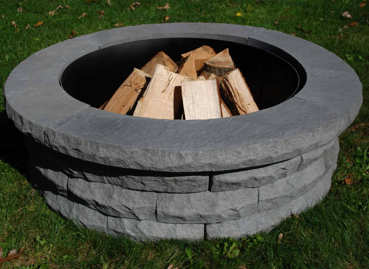 The Story Of Countryside 48 in. Gray Fire Pit Kit Has Just ...