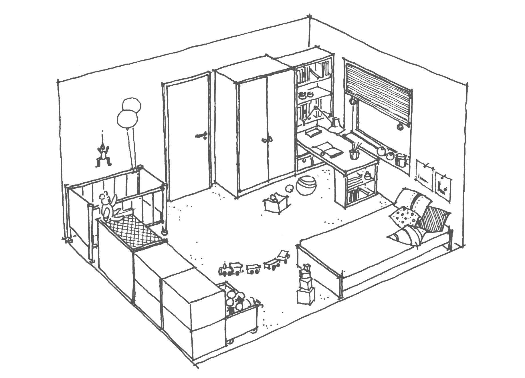 3 Child's Bedroom Floor Plan Ideas With Dimensions | Roy Home Design
