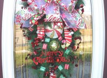 Big Front Doors Teardrop Wreath | Christmas Wreath Door Wreath