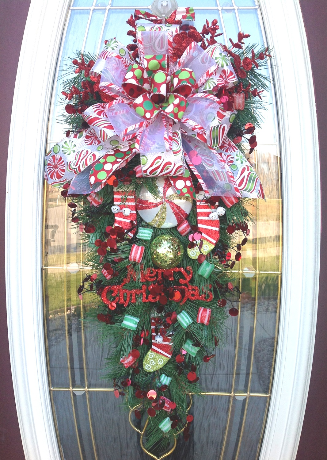 Christmas Swags For Doors | Big Front Doors Teardrop Wreath | Christmas Wreath Door Wreath ..