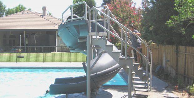 Vortex Pool Slide | Pools For Home | Used Swimming Pool Slides | Roy ...