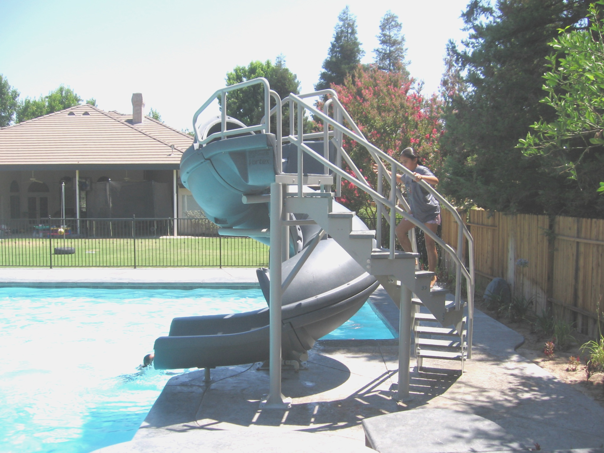 Vortex Pool Slide | Pools For Home | Used Swimming Pool ...
