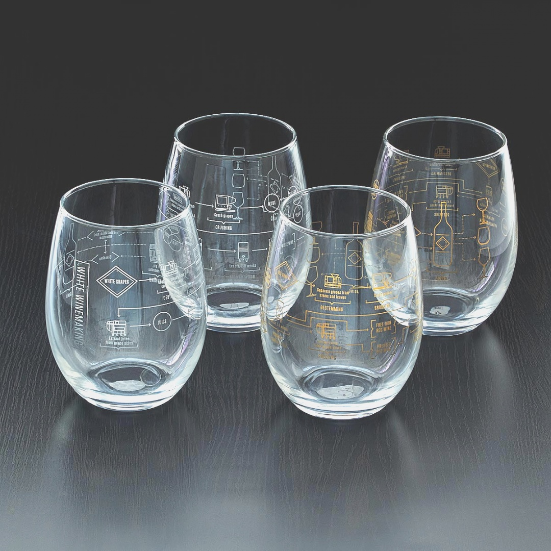 glass set | Artland Fizzy Highball Drinking Glasses - Set of 4 | Everything ..