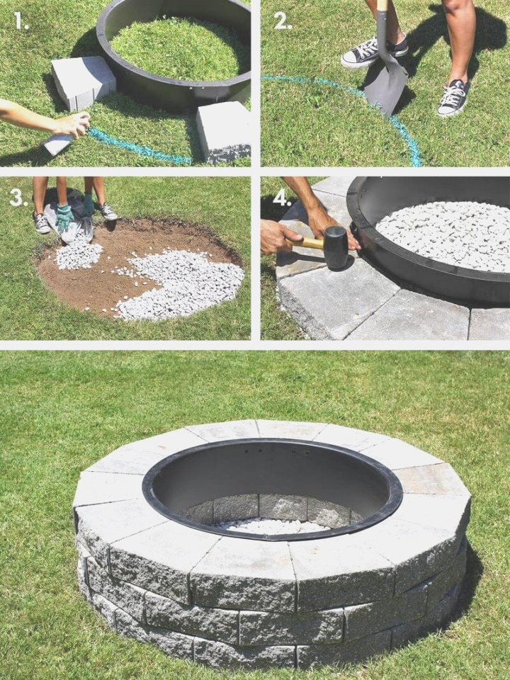 diy fire pit | 27 Best DIY Firepit Ideas and Designs for 2018 | diy fire pit