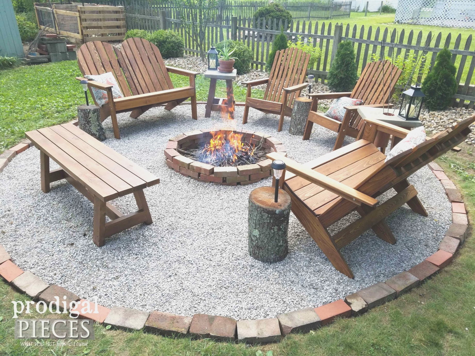 diy fire pit | DIY Fire Pit ~ Backyard Budget Decor - Prodigal Pieces | diy fire pit