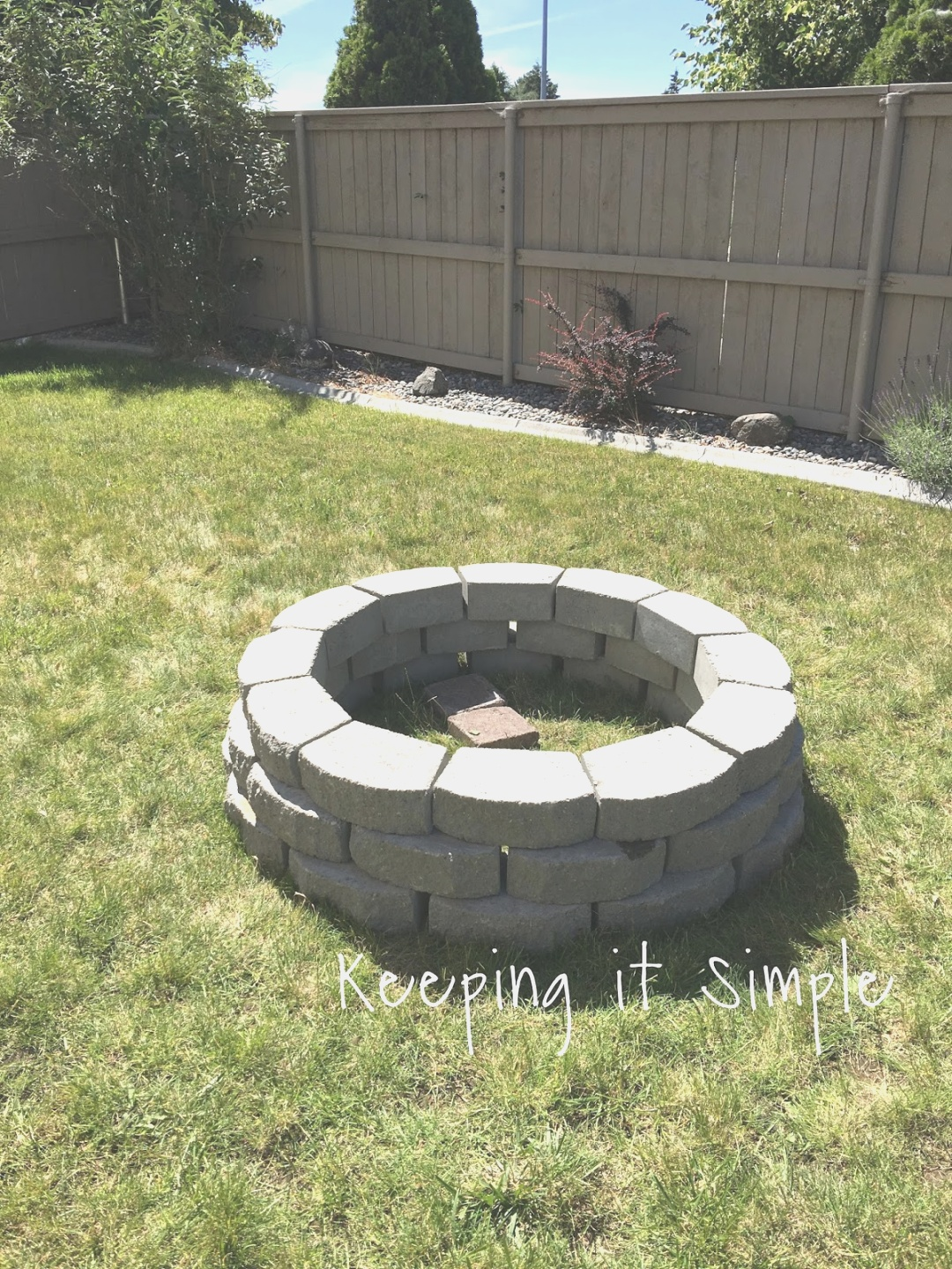 diy fire pit | How to Build a DIY Fire Pit for Only $60 - Keeping it Simple Crafts | diy fire pit