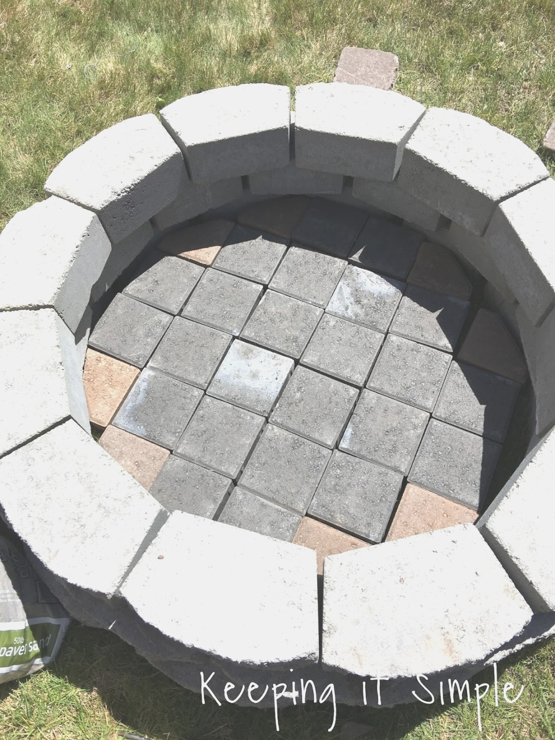 diy fire pit   How to Build a DIY Fire Pit for Only $60 - Keeping it Simple Crafts   diy fire pit