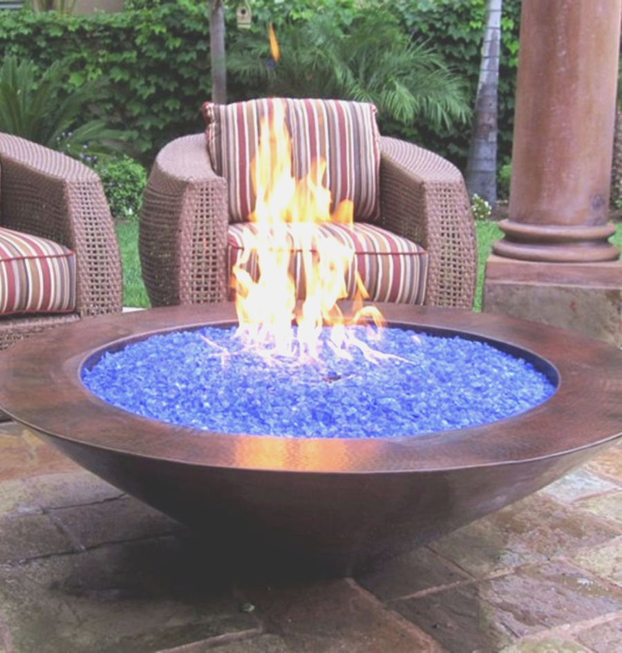 fire pit glass | Gas Fire Pits Glass - nativefoodways