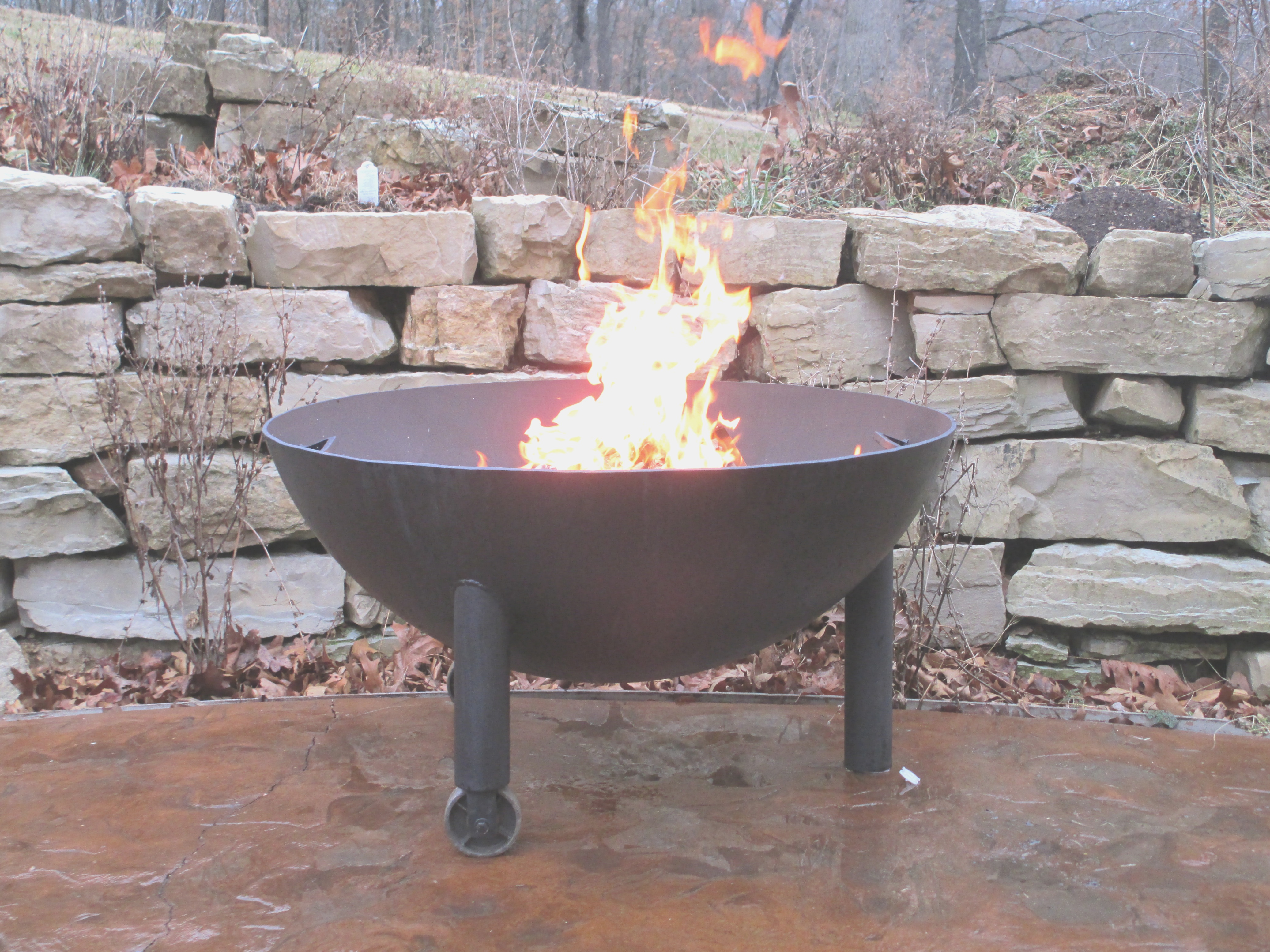 propane tank fire pit | Fire Pit Made From Propane Tank Far-fetched Iron Hollow Metals ..