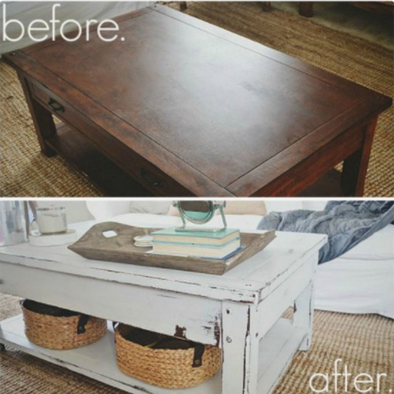 Tips and Tricks to Transform Painted Coffee Table Look