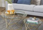round metal coffee table with glass top round silver metal coffee table