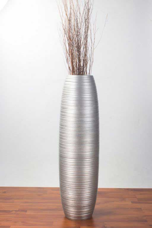 Get To Know Tall Silver Floor Vase for Home Decoration